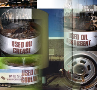 Service containers for used oil, waste oil & grease